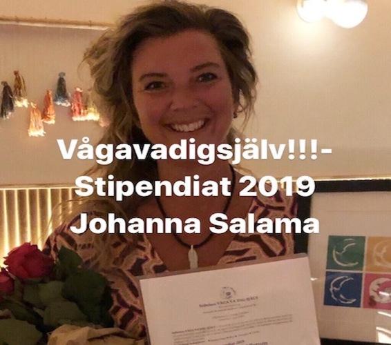 """Johanna utses till årets """"Våga vara dig själv"""" stipendiat"""